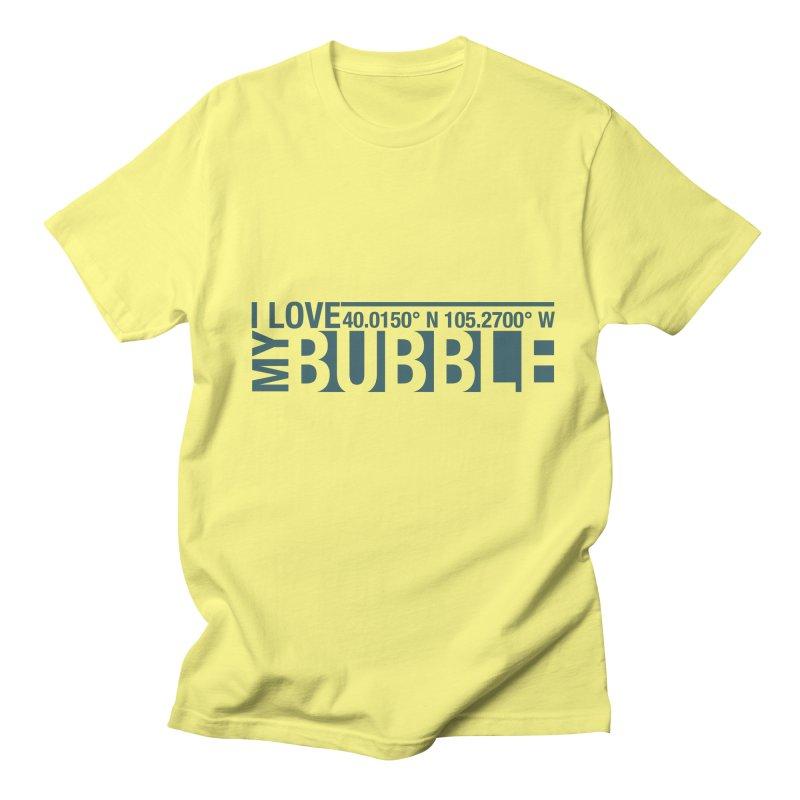 Boulder Bubble Men's Regular T-Shirt by thinkinsidethebox's Artist Shop