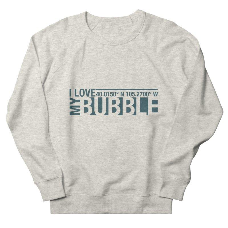 Boulder Bubble Men's French Terry Sweatshirt by thinkinsidethebox's Artist Shop