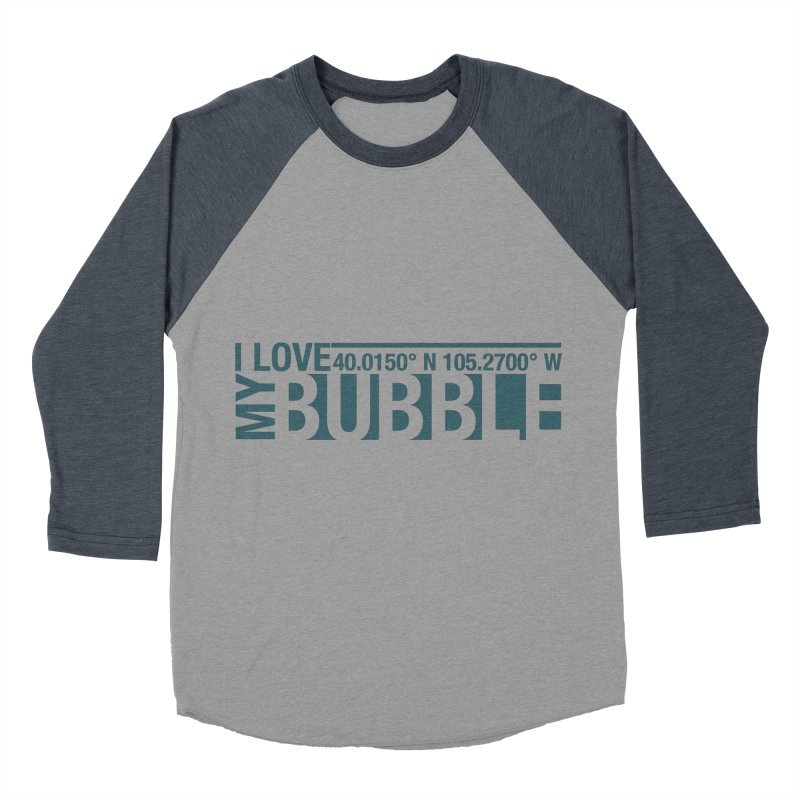 Boulder Bubble Men's Baseball Triblend Longsleeve T-Shirt by thinkinsidethebox's Artist Shop