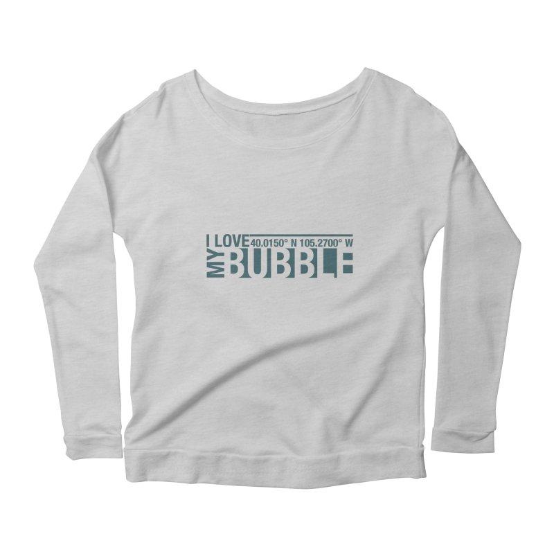 Boulder Bubble Women's Scoop Neck Longsleeve T-Shirt by thinkinsidethebox's Artist Shop