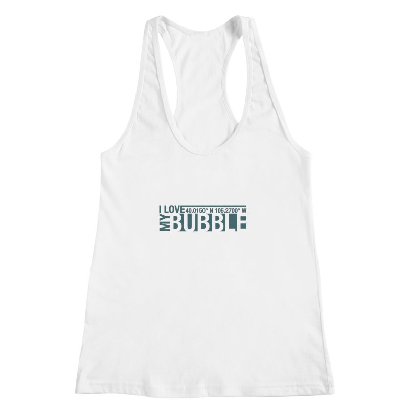 Boulder Bubble Women's Racerback Tank by thinkinsidethebox's Artist Shop