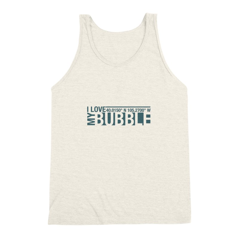 Boulder Bubble Men's Triblend Tank by thinkinsidethebox's Artist Shop