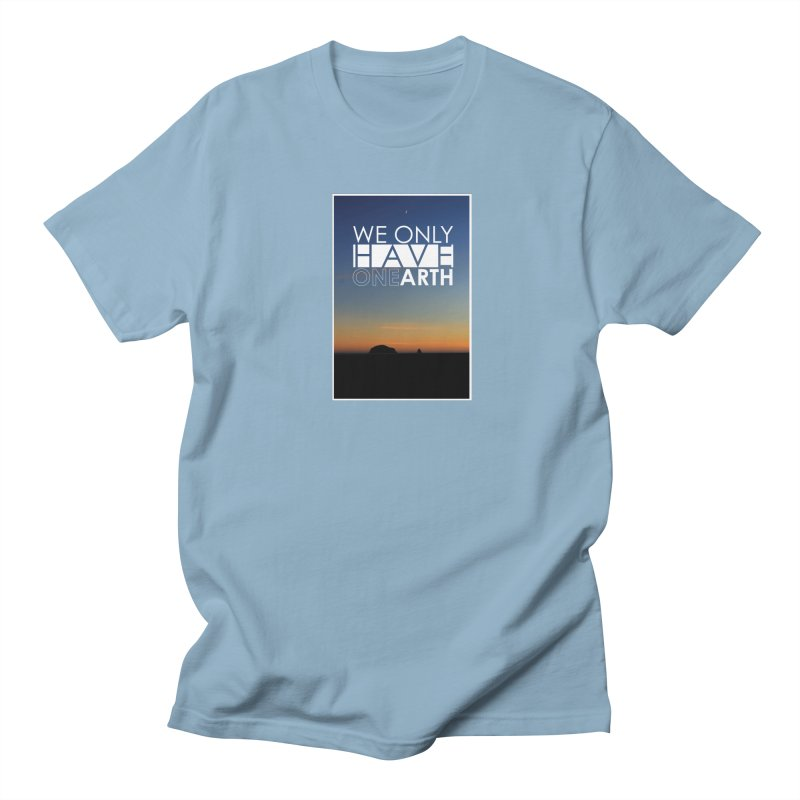 We only have one earth Men's Regular T-Shirt by thinkinsidethebox's Artist Shop