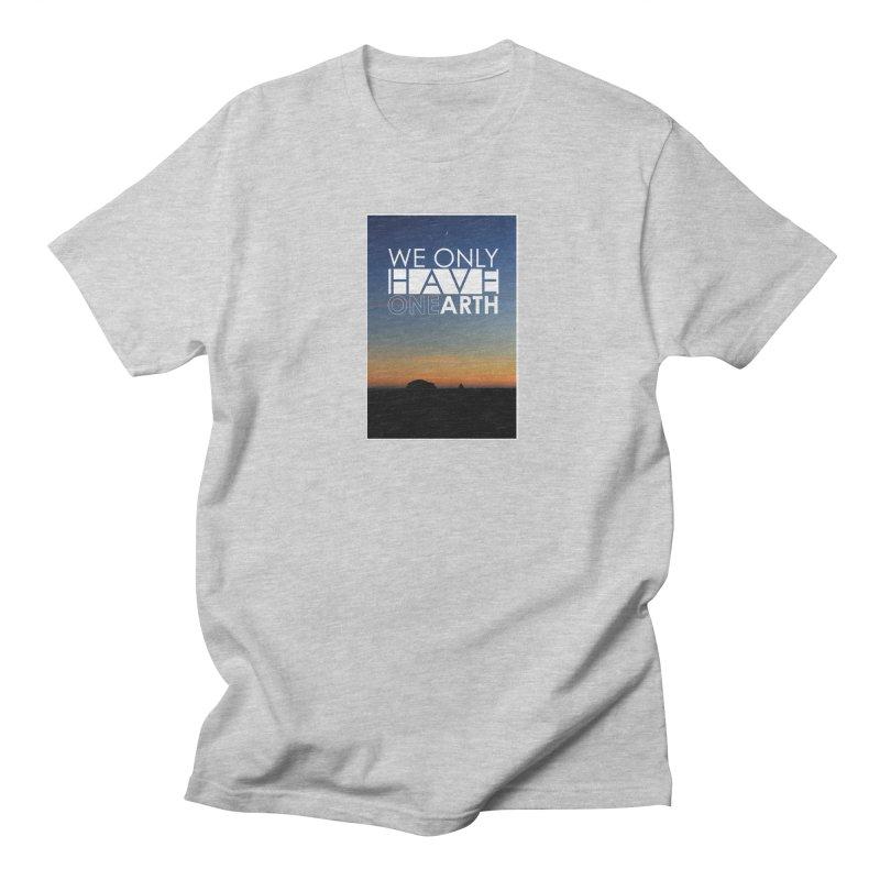 We only have one earth Men's Regular T-Shirt by thinkinsidethebox's Artist Shop