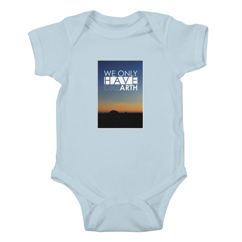 We only have one earth Kids Baby Bodysuit by thinkinsidethebox's Artist Shop