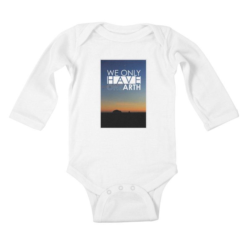 We only have one earth Kids Baby Longsleeve Bodysuit by thinkinsidethebox's Artist Shop