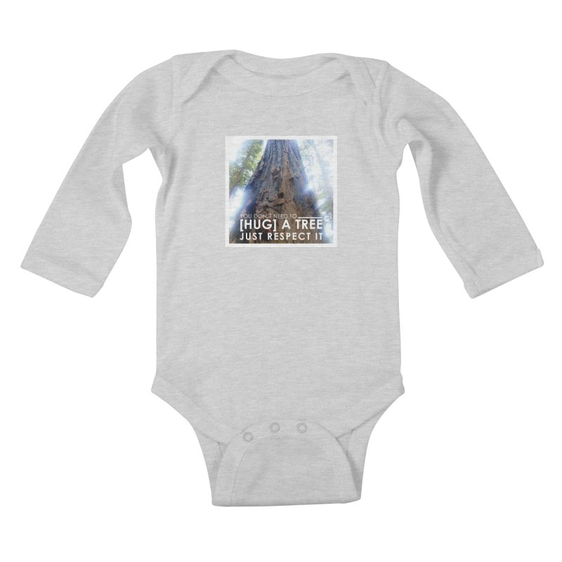 Tree [Hugger] Kids Baby Longsleeve Bodysuit by thinkinsidethebox's Artist Shop