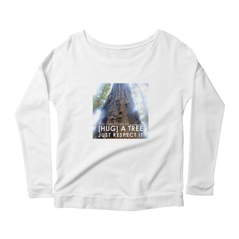Tree [Hugger] Women's Scoop Neck Longsleeve T-Shirt by thinkinsidethebox's Artist Shop