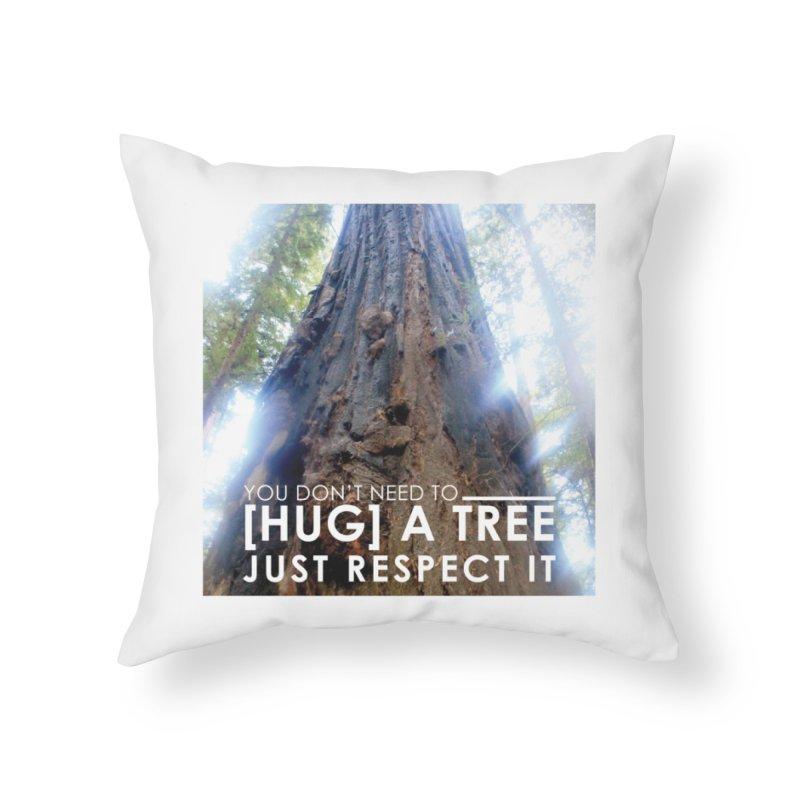 Tree [Hugger] Home Throw Pillow by thinkinsidethebox's Artist Shop