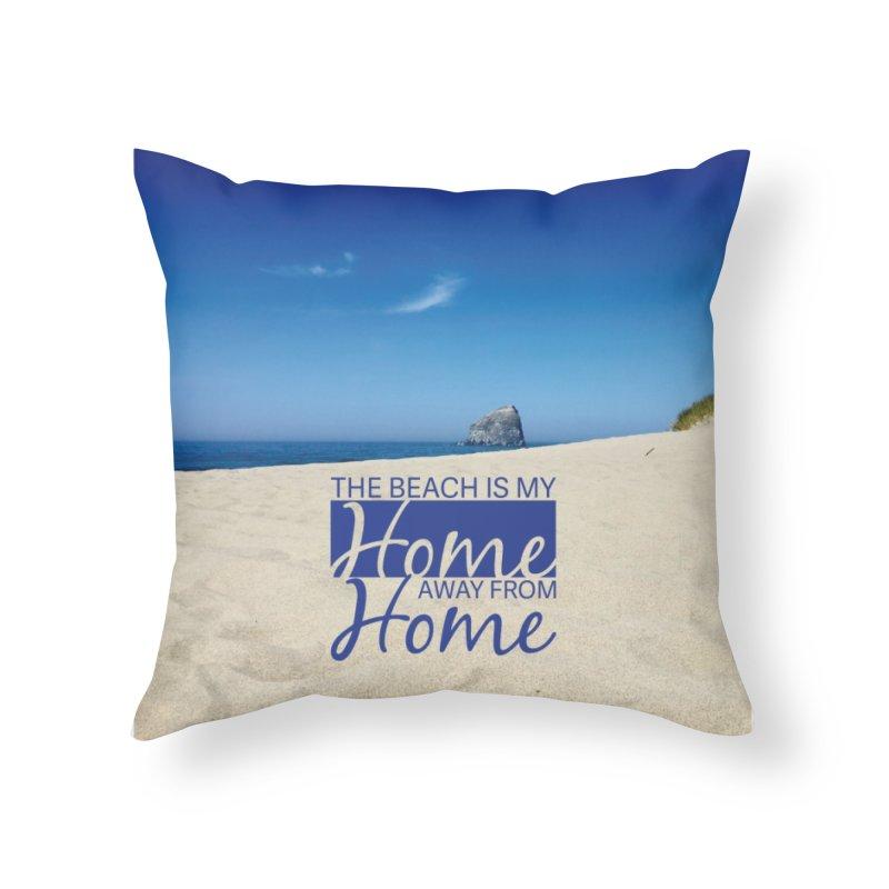 The Beach Pillow Home Throw Pillow by thinkinsidethebox's Artist Shop