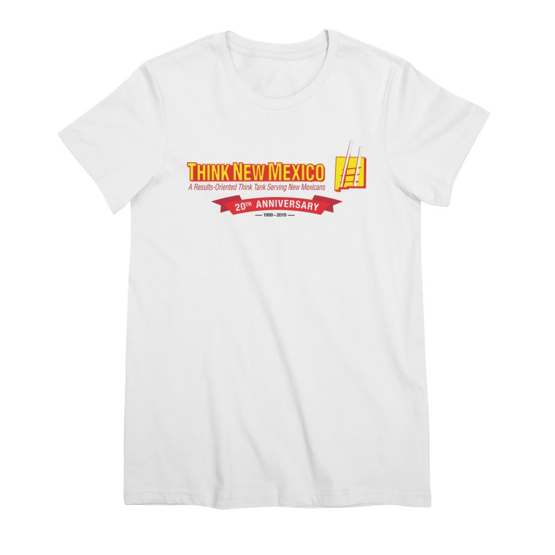 20th Anniversary Red Centered Banner Women's Premium T-Shirt by Think New Mexico's Artist Shop