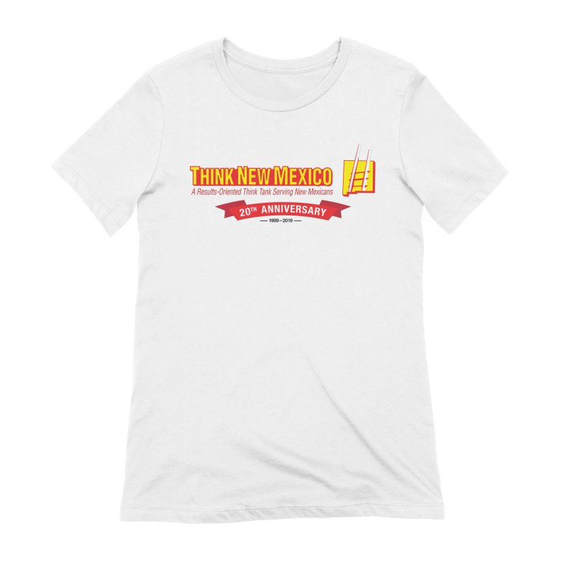 20th Anniversary Red Centered Banner Women's Extra Soft T-Shirt by Think New Mexico's Artist Shop