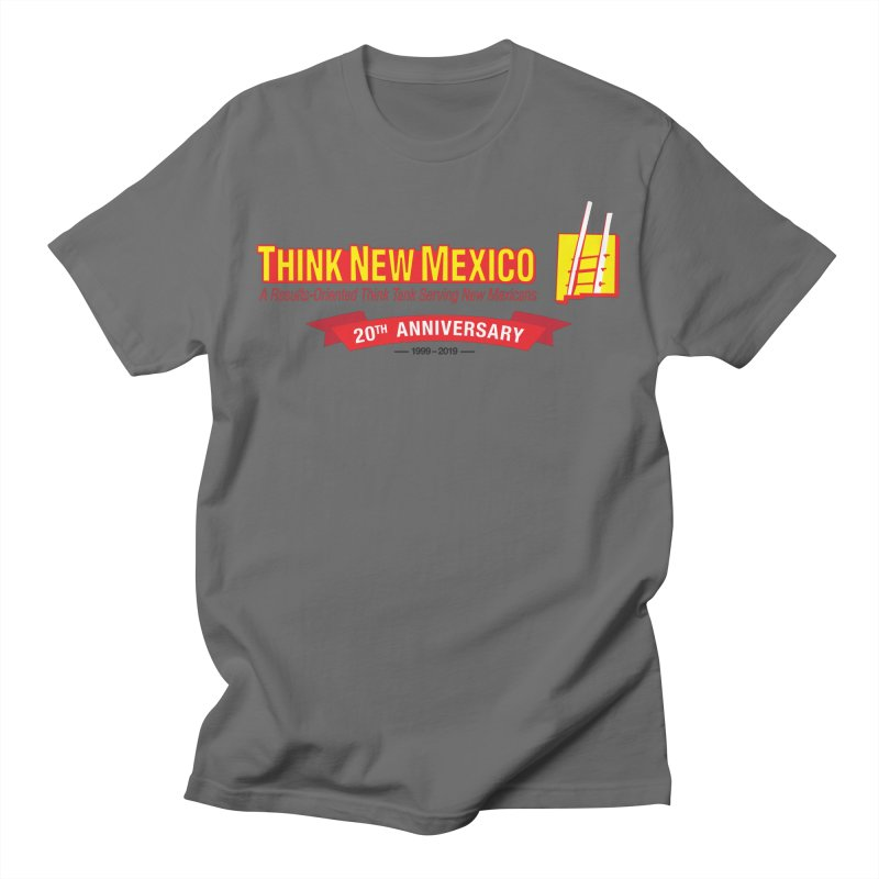 20th Anniversary Red Centered Banner Men's T-Shirt by Think New Mexico's Artist Shop