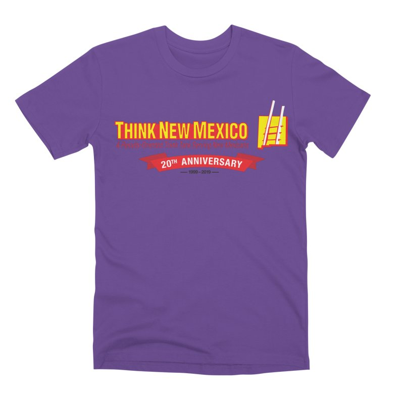 20th Anniversary Red Centered Banner Men's Premium T-Shirt by Think New Mexico's Artist Shop