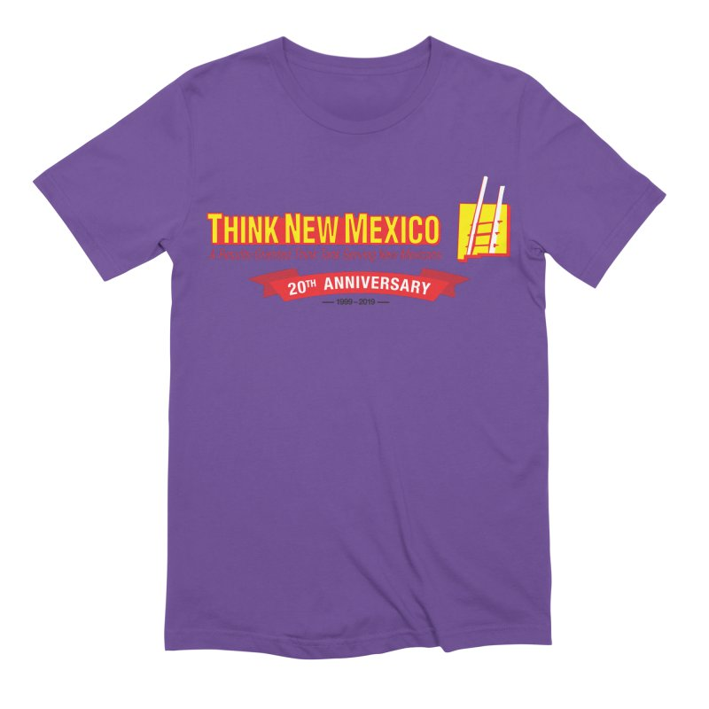 20th Anniversary Red Centered Banner Men's Extra Soft T-Shirt by Think New Mexico's Artist Shop