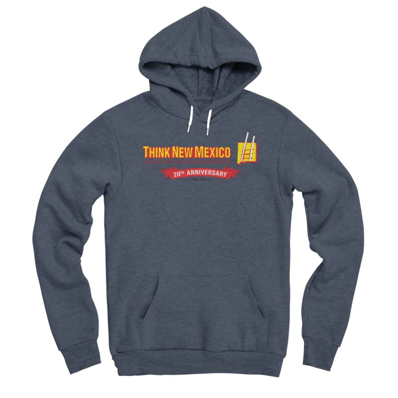 20th Anniversary Red Centered Banner Men's Pullover Hoody by Think New Mexico's Artist Shop