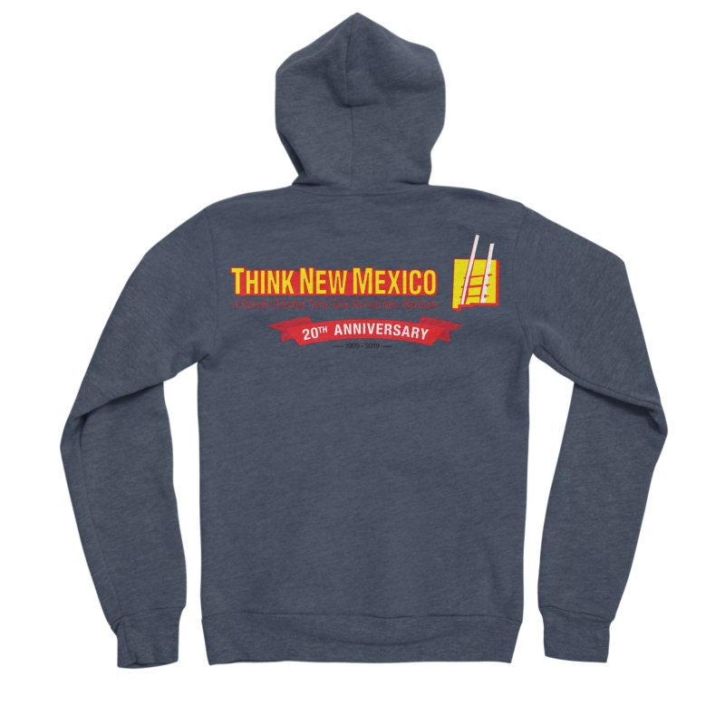 20th Anniversary Red Centered Banner Men's Sponge Fleece Zip-Up Hoody by Think New Mexico's Artist Shop