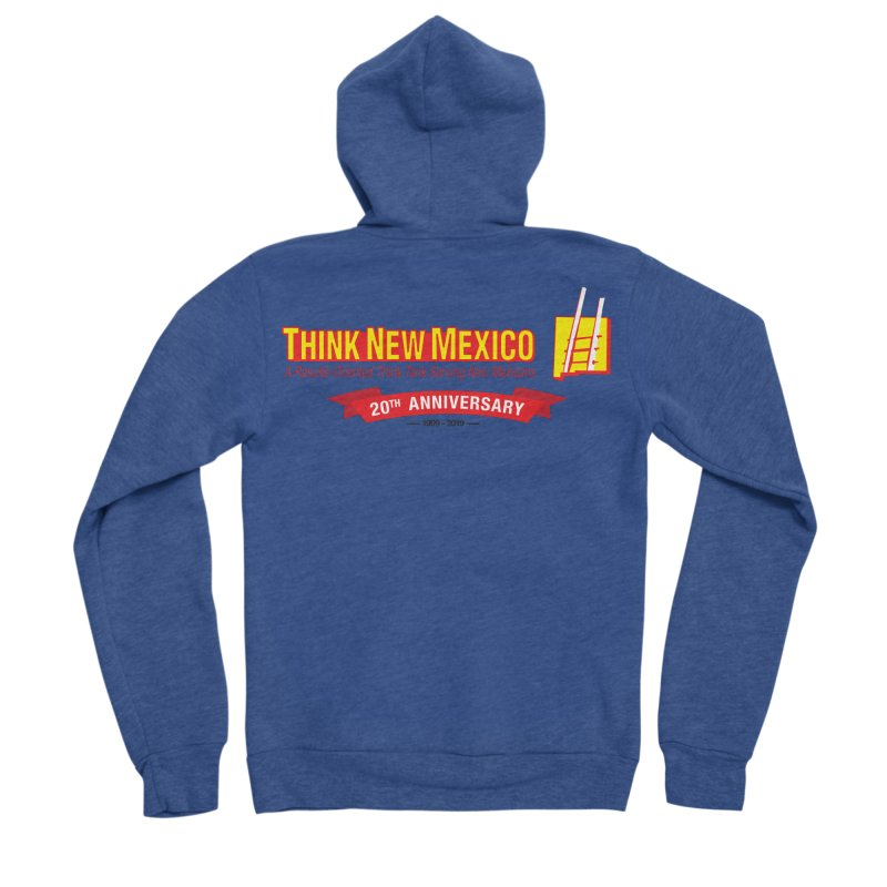 20th Anniversary Red Centered Banner Women's Sponge Fleece Zip-Up Hoody by Think New Mexico's Artist Shop