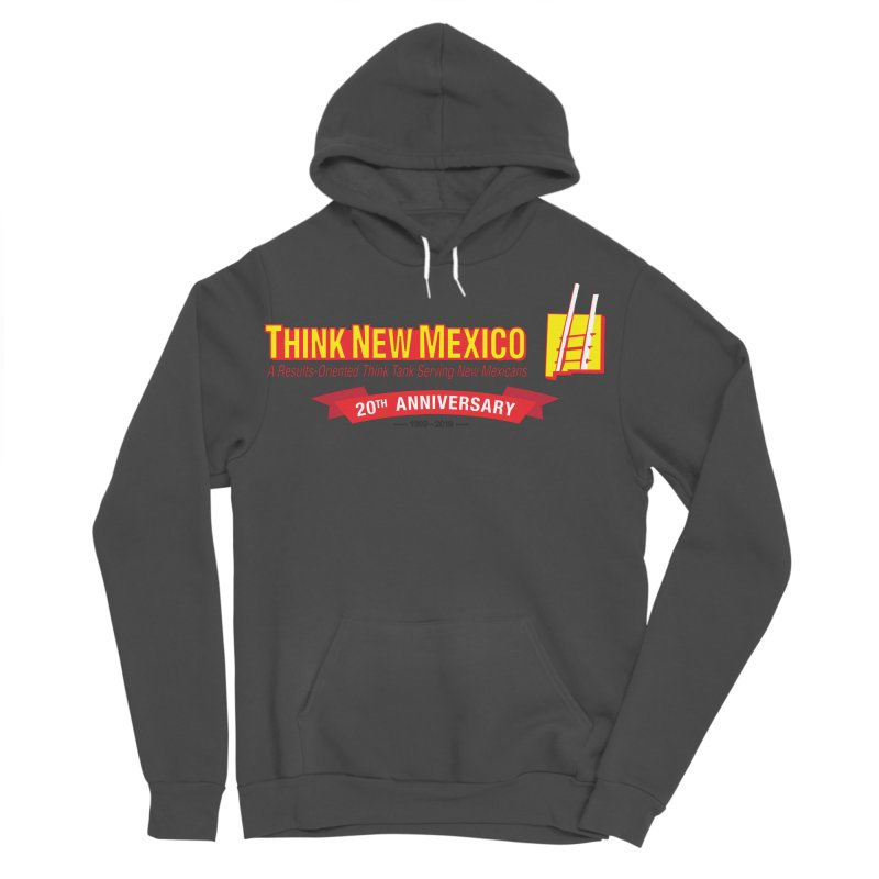 20th Anniversary Red Centered Banner Men's Sponge Fleece Pullover Hoody by Think New Mexico's Artist Shop