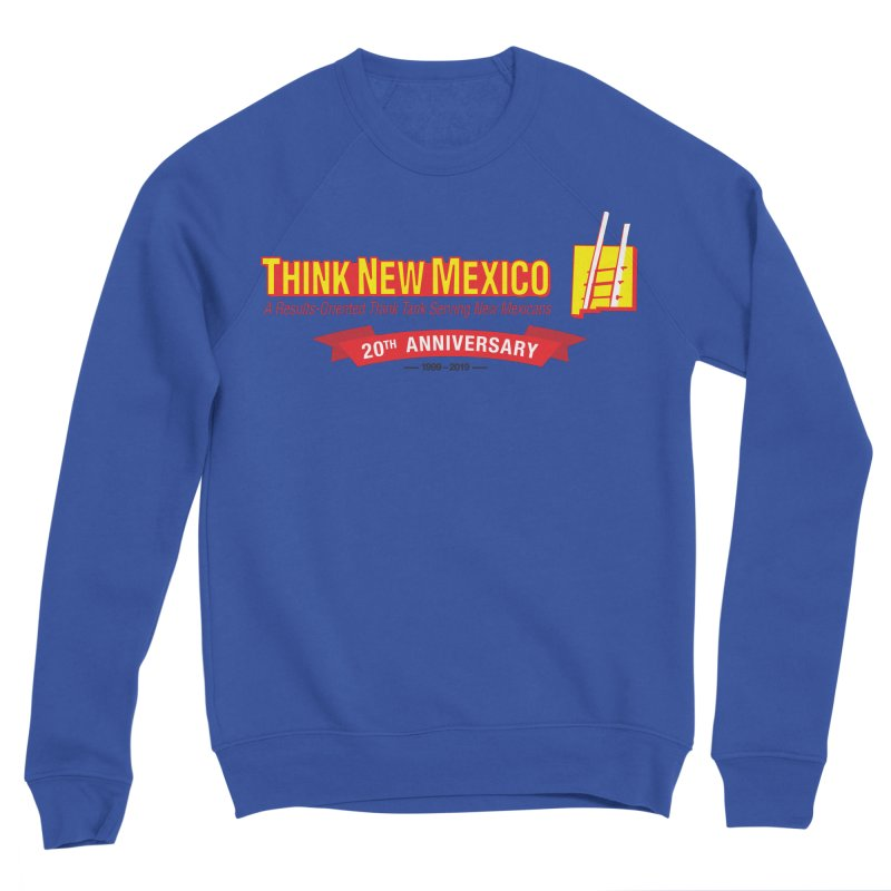 20th Anniversary Red Centered Banner Men's Sponge Fleece Sweatshirt by Think New Mexico's Artist Shop