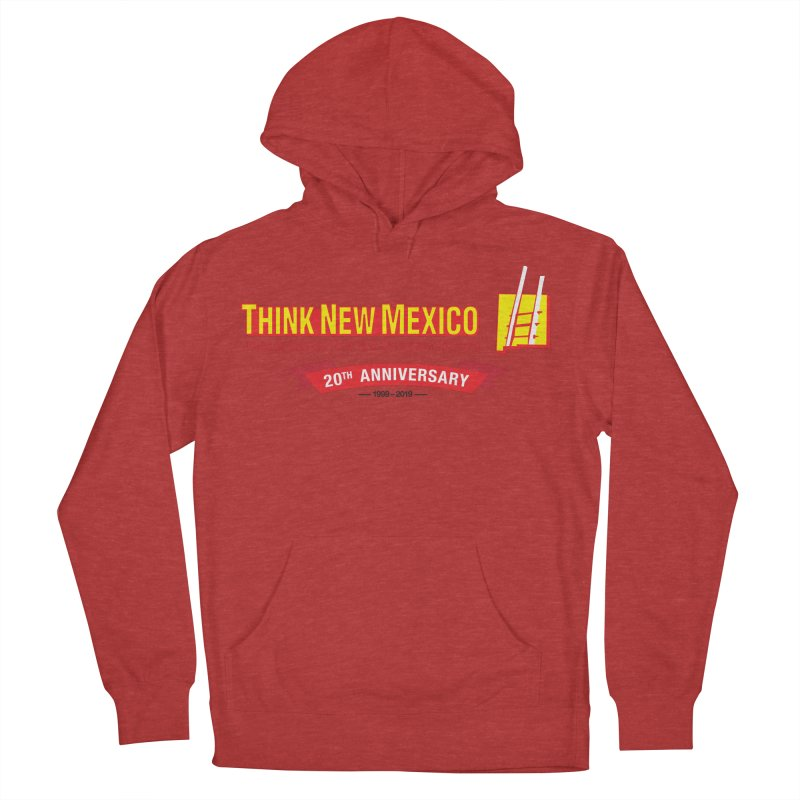 20th Anniversary Red Centered Banner Men's French Terry Pullover Hoody by Think New Mexico's Artist Shop