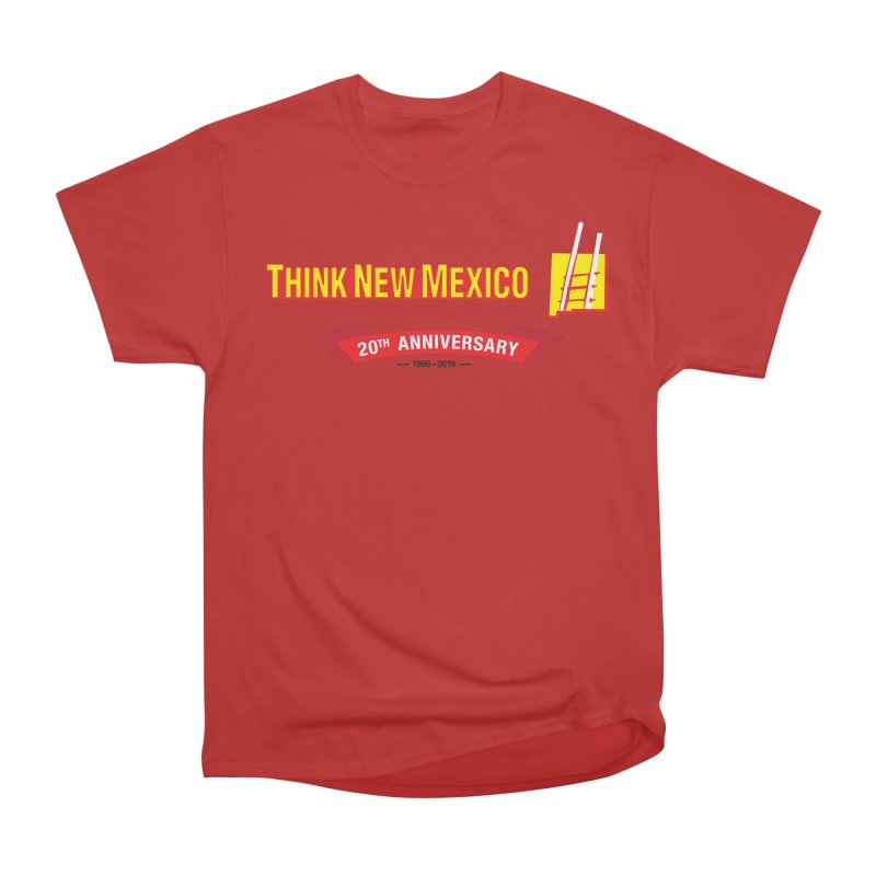 20th Anniversary Red Centered Banner Men's Heavyweight T-Shirt by Think New Mexico's Artist Shop