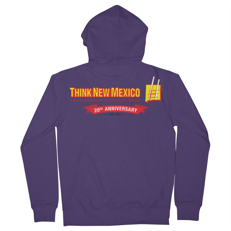 20th Anniversary Red Centered Banner Women's French Terry Zip-Up Hoody by Think New Mexico's Artist Shop