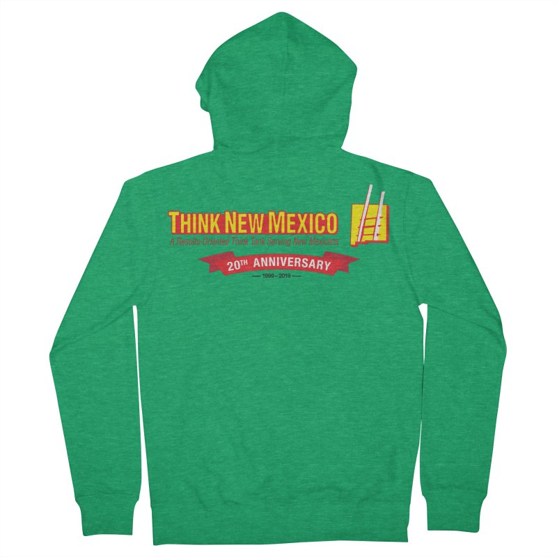 20th Anniversary Red Centered Banner Men's Zip-Up Hoody by Think New Mexico's Artist Shop