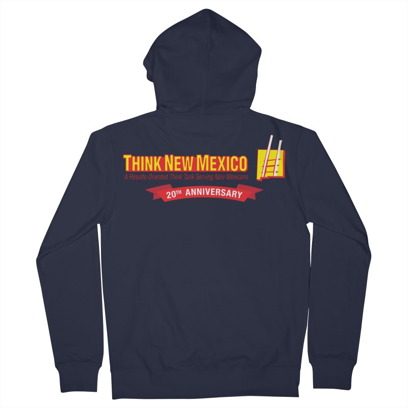 20th Anniversary Red Centered Banner Men's French Terry Zip-Up Hoody by Think New Mexico's Artist Shop
