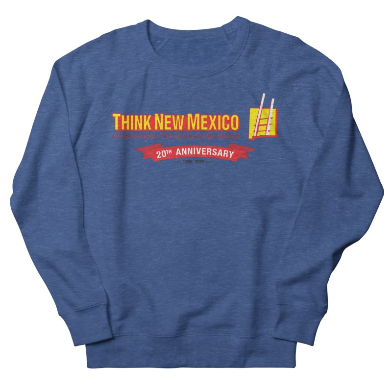 20th Anniversary Red Centered Banner Women's French Terry Sweatshirt by Think New Mexico's Artist Shop