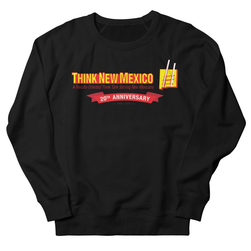 20th Anniversary Red Centered Banner Men's French Terry Sweatshirt by Think New Mexico's Artist Shop