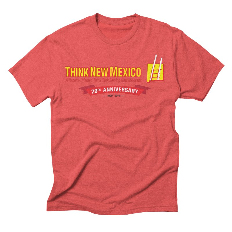 20th Anniversary Red Centered Banner Men's Triblend T-Shirt by Think New Mexico's Artist Shop