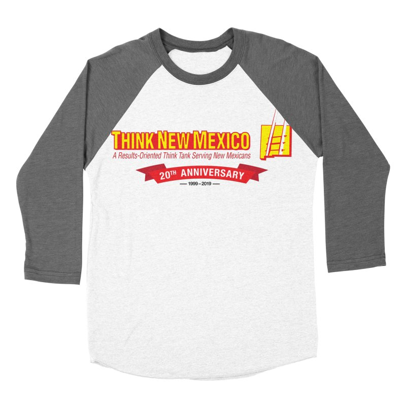 20th Anniversary Red Centered Banner Men's Baseball Triblend Longsleeve T-Shirt by Think New Mexico's Artist Shop