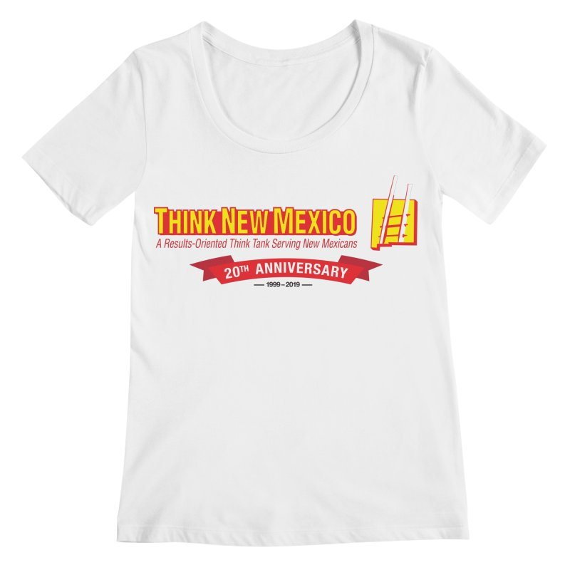 20th Anniversary Red Centered Banner Women's Regular Scoop Neck by Think New Mexico's Artist Shop
