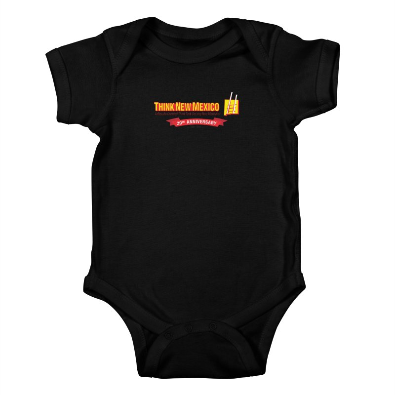 20th Anniversary Red Centered Banner Kids Baby Bodysuit by Think New Mexico's Artist Shop