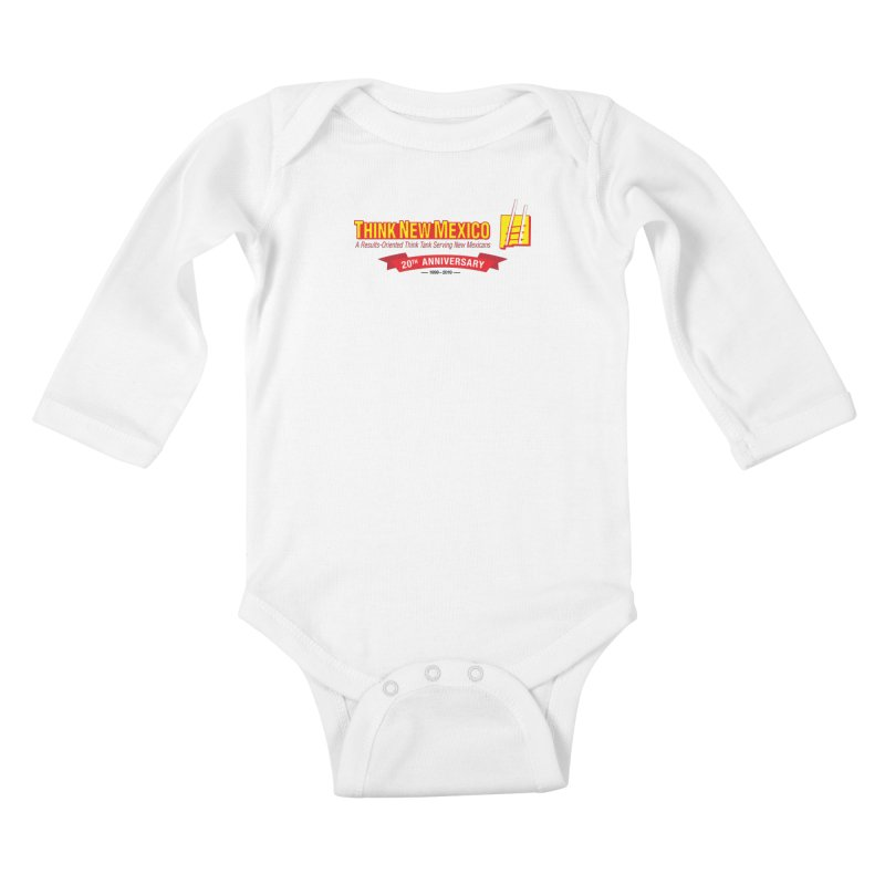 20th Anniversary Red Centered Banner Kids Baby Longsleeve Bodysuit by Think New Mexico's Artist Shop