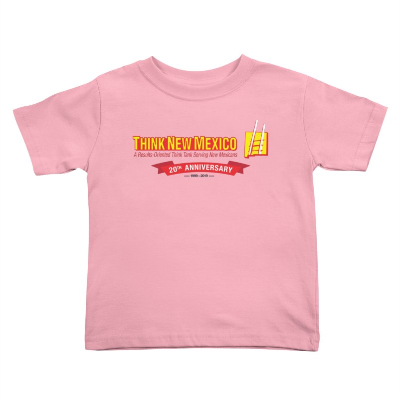 20th Anniversary Red Centered Banner Kids Toddler T-Shirt by Think New Mexico's Artist Shop
