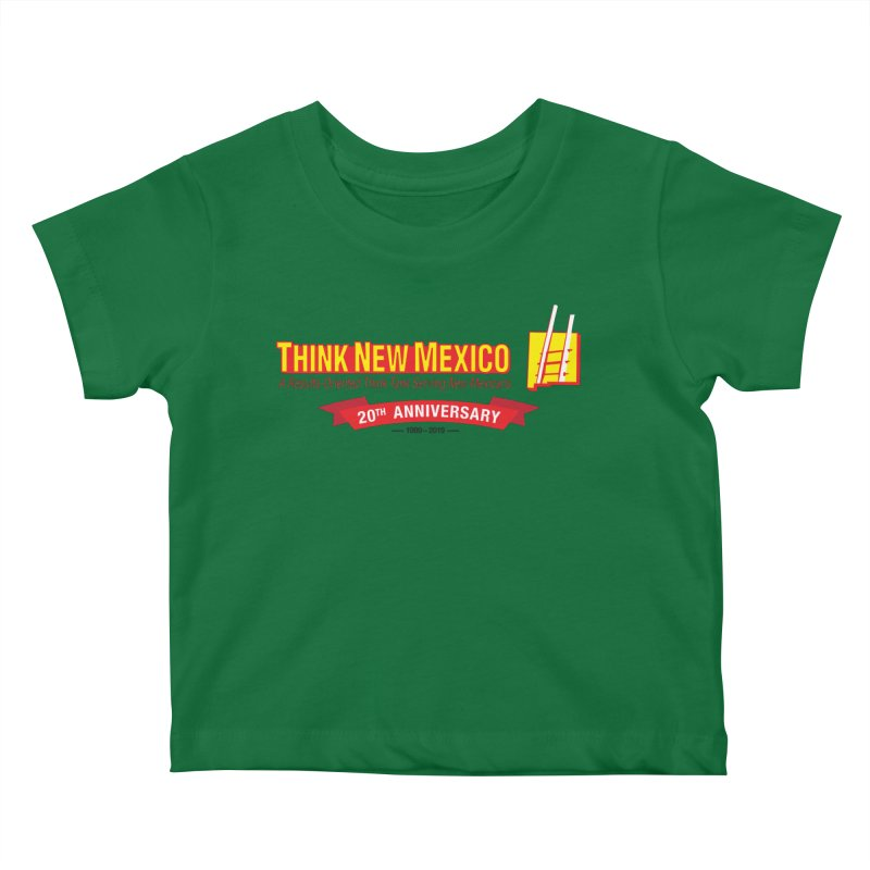 20th Anniversary Red Centered Banner Kids Baby T-Shirt by Think New Mexico's Artist Shop