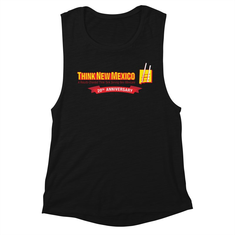 20th Anniversary Red Centered Banner Women's Tank by Think New Mexico's Artist Shop