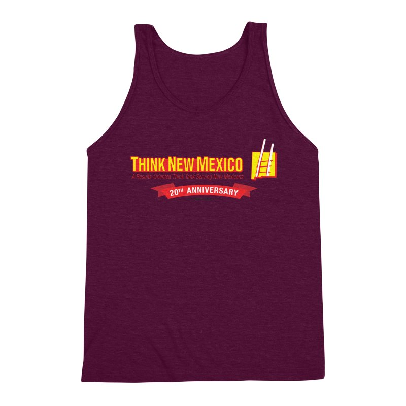 20th Anniversary Red Centered Banner Men's Triblend Tank by Think New Mexico's Artist Shop