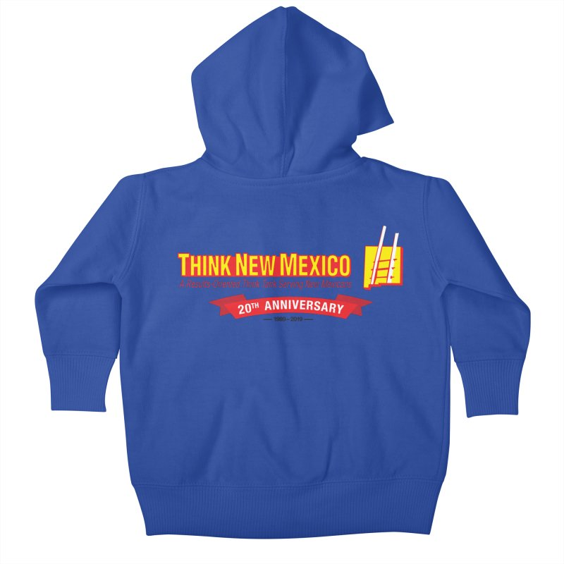 20th Anniversary Red Centered Banner Kids Baby Zip-Up Hoody by Think New Mexico's Artist Shop