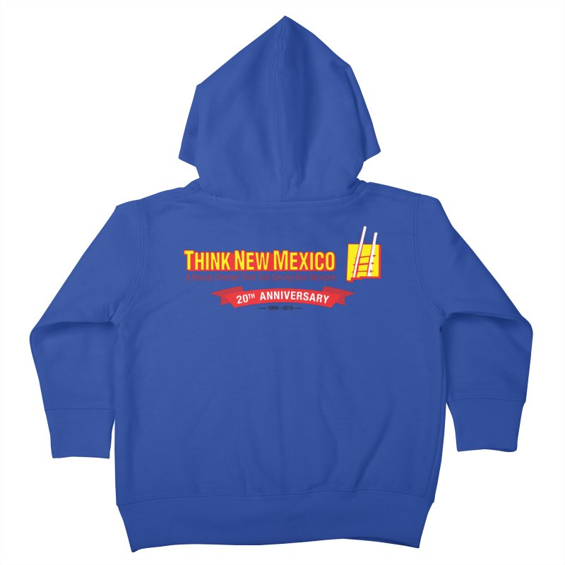 20th Anniversary Red Centered Banner Kids Toddler Zip-Up Hoody by Think New Mexico's Artist Shop