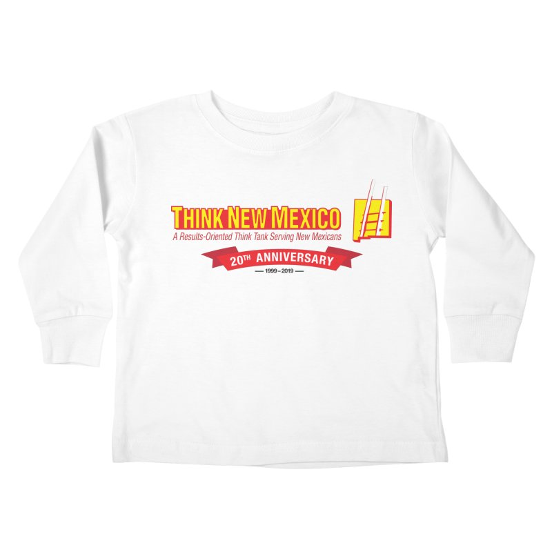 20th Anniversary Red Centered Banner Kids Toddler Longsleeve T-Shirt by Think New Mexico's Artist Shop