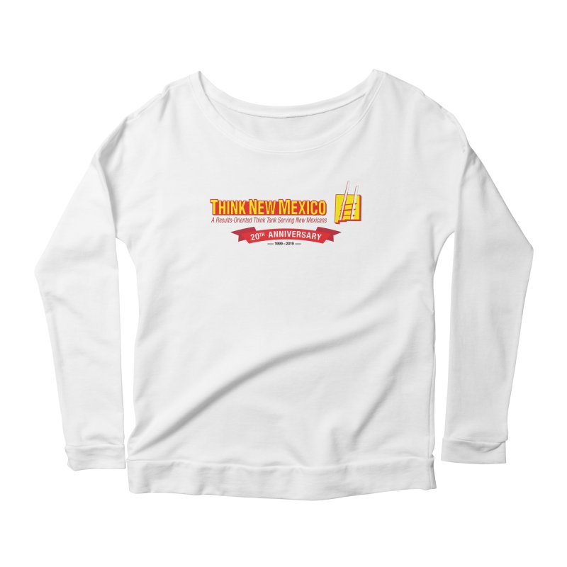 20th Anniversary Red Centered Banner Women's Scoop Neck Longsleeve T-Shirt by Think New Mexico's Artist Shop