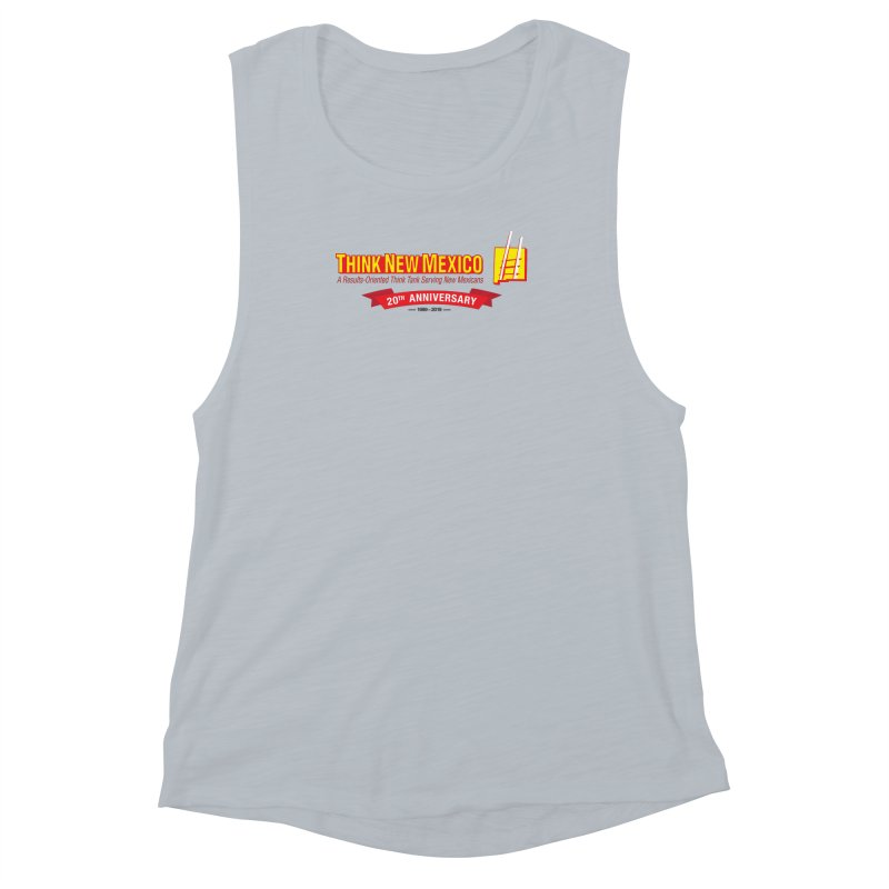 20th Anniversary Red Centered Banner Women's Muscle Tank by Think New Mexico's Artist Shop