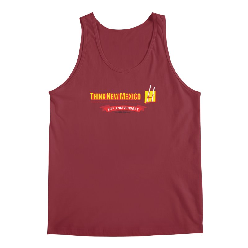 20th Anniversary Red Centered Banner Men's Tank by Think New Mexico's Artist Shop