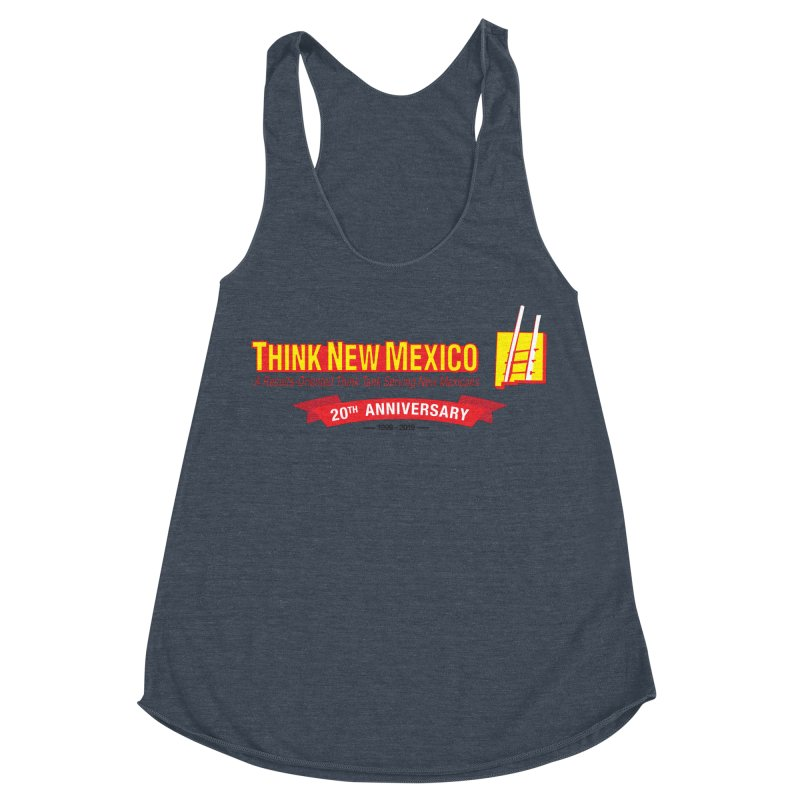 20th Anniversary Red Centered Banner Women's Racerback Triblend Tank by Think New Mexico's Artist Shop