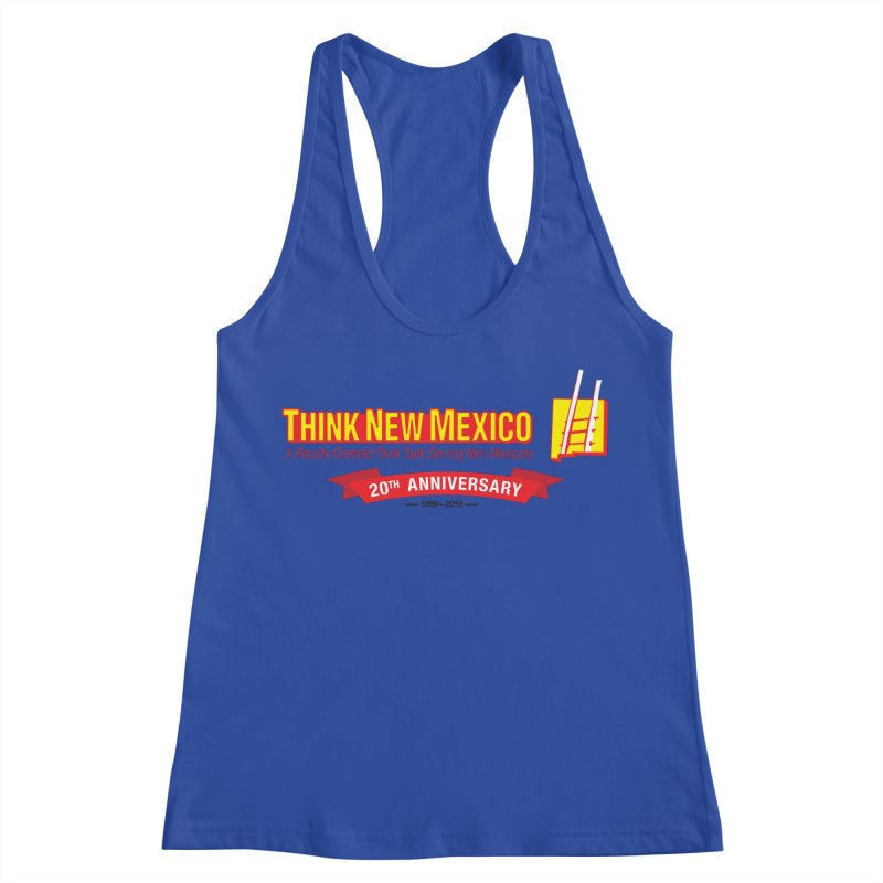 20th Anniversary Red Centered Banner Women's Racerback Tank by Think New Mexico's Artist Shop
