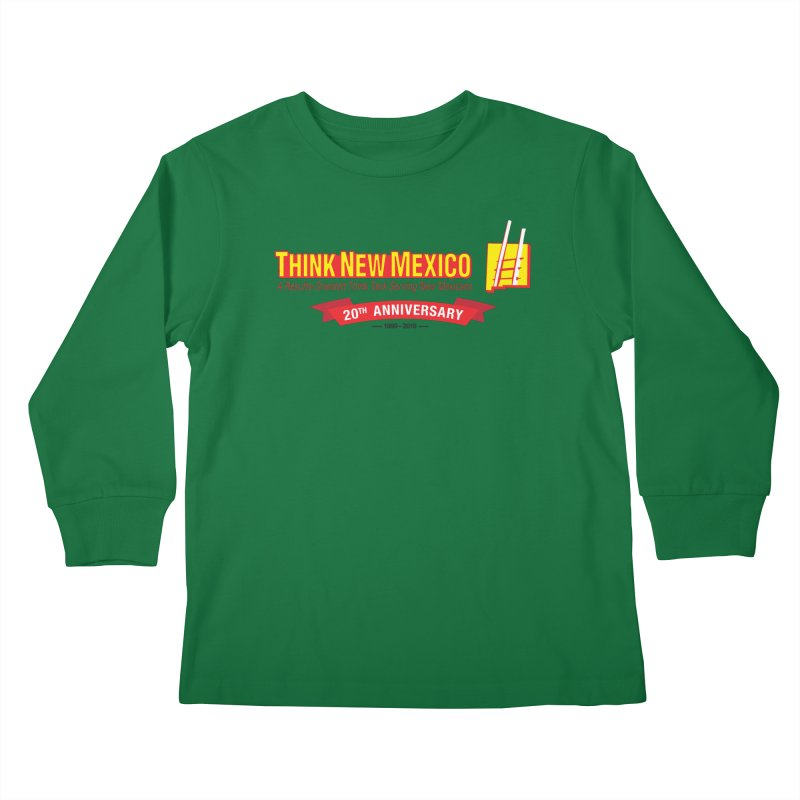 20th Anniversary Red Centered Banner Kids Longsleeve T-Shirt by Think New Mexico's Artist Shop