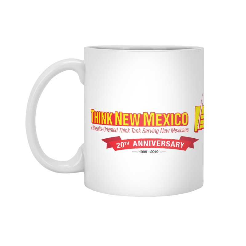 20th Anniversary Red Centered Banner Accessories Standard Mug by Think New Mexico's Artist Shop